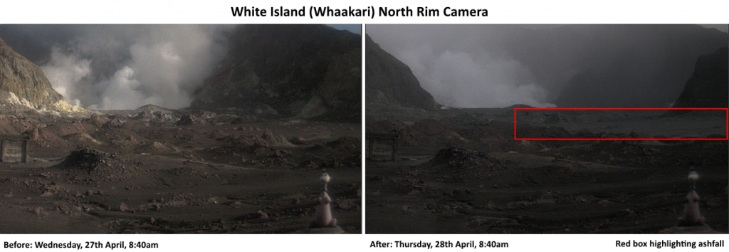 White Island ashfall