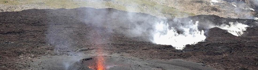 04 Avril 2018. FR. Piton de la Fournaise , Chiles / Cerro Negro , Ticsani , Ambae .