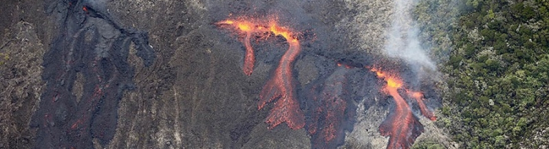 05 Avril 2018. FR . Cleveland , Piton de la Fournaise , Shinmoedake , Aira ( Sakurajima) , Galeras .