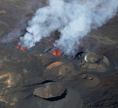 April 28 ,  2018.  EN.  Piton de la Fournaise , Update 17h30 .