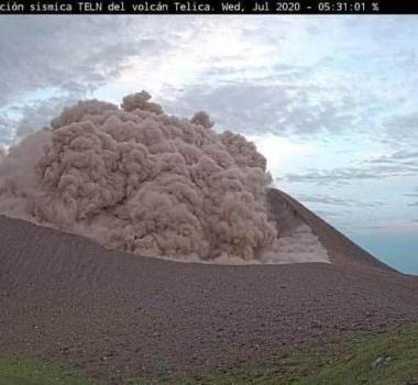 July 30, 2020. EN. Nicaragua : Telica , Mexico : Popocatepetl , Kamchatka : Klyuchevskoy , New Zealand : White Island , Guatemala : Fuego .