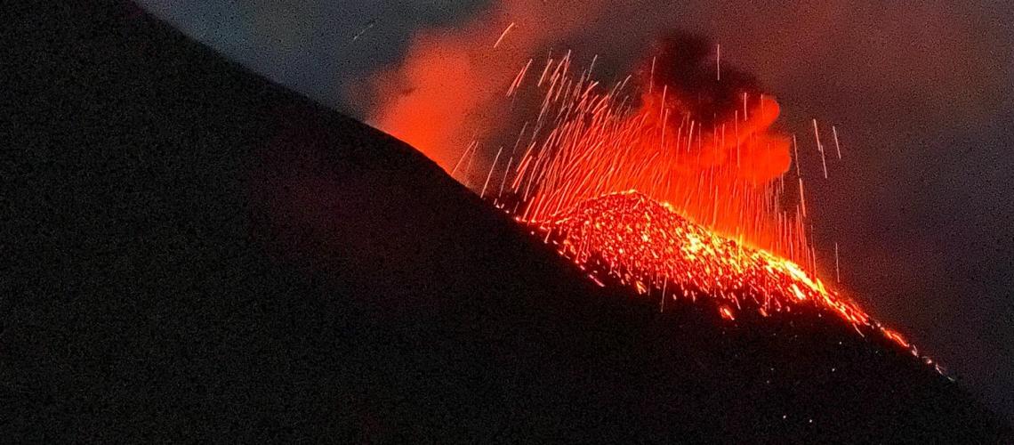 October 21 , 2020. EN . Italy / Sicily : Etna , Italy : Stromboli , Iceland : Reykjanes Peninsula , Kamchatka : Karymsky , Colombia : Doña Juana / Las Ánimas .