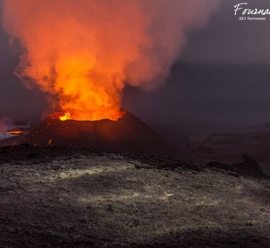 October 11, 2015. EN. Piton de la Fournaise, Sinabung, Kilauea .