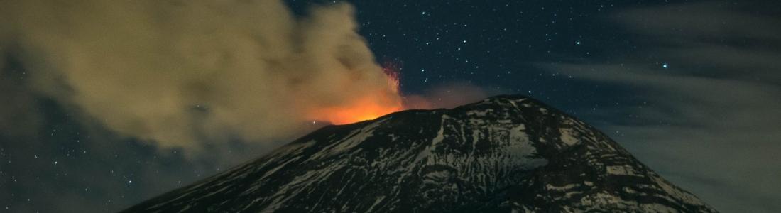 February 09 , 2016.  EN. Nevado Del Ruiz , Popocatepetl , Guallatiri , Momotombo .