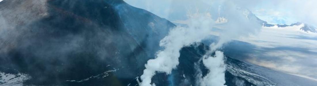 November 22 , 2018 . EN.  Colombia : Nevado del Ruiz , Alaska : Veniaminof , Ecuador : Sangay , Guatemala : Fuego .