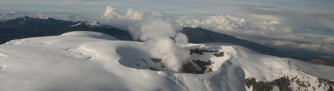 October 12, 2015. EN. Nevado Del Ruiz, Sheveluch, Fuego .