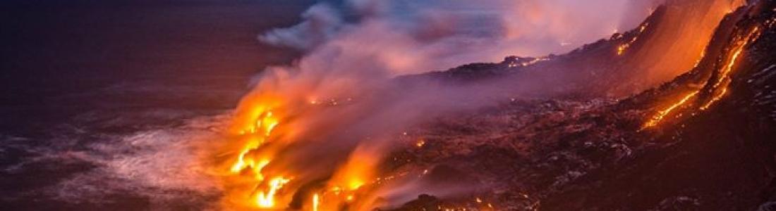29/08/2016. FR. Kilauea , Chaine des Cascades , Tungurahua , Ibu .