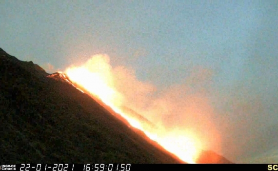 January 23, 2021. EN . Italy : Stromboli , Indonesia : Merapi , Chile , Nevados of Chillan , Guatemala : Pacaya .