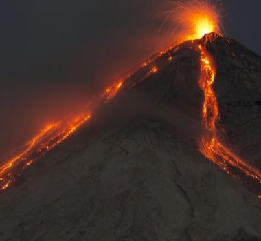 February 12 , 2016.  EN.  Fuego ,  Lokon-Empung , Ubinas , Karymsky .