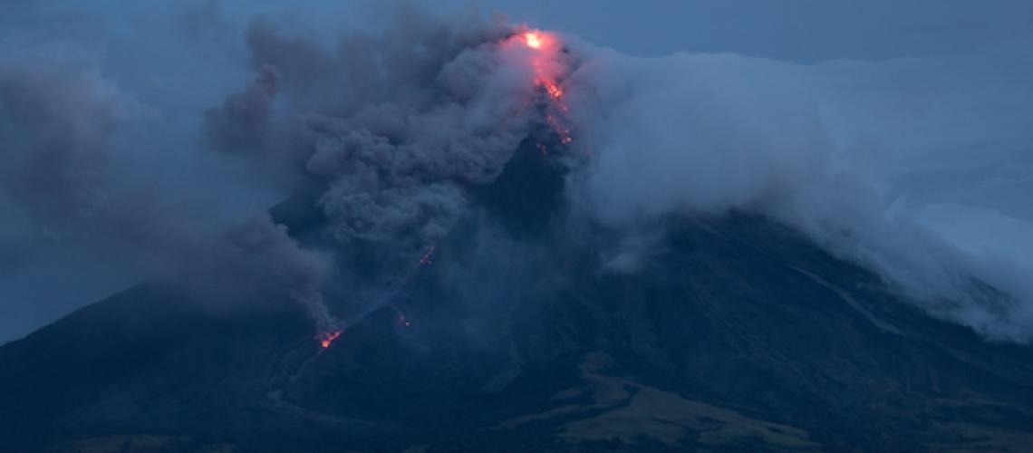 January 29 , 2018.  EN.  Mayon , San Miguel (Chaparrastique ) , Agung , Fuego .