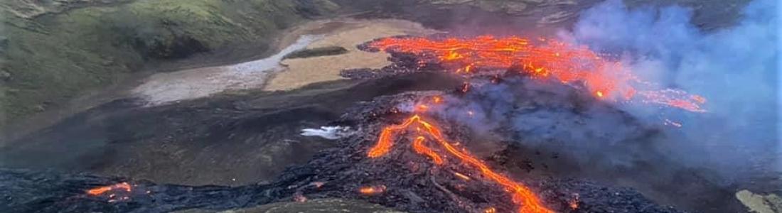 21 Mars 2021. Fr . Islande : Fagradalsfjall , Hawaii : Kilauea , Alaska : Cleveland , Equateur : Reventador , Mexique : Popocatepetl .