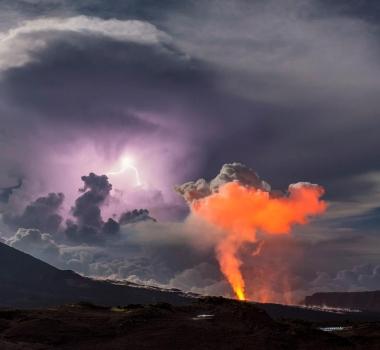 February 12 , 2017. EN.  Piton de la Fournaise , Nevado Del Ruiz , Bulusan , Popocatepetl .