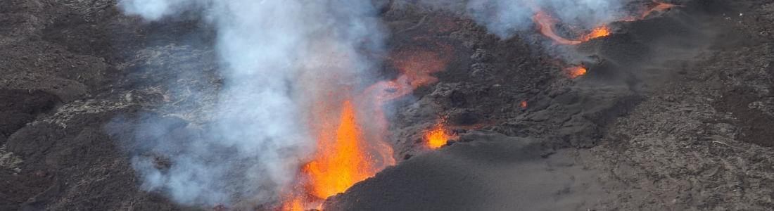10 Avril 2021. Fr. Saint Vincent : Soufrière Saint Vincent , La Réunion : Piton de la Fournaise , Chili : Nevados de Chillan , Indonésie : Sinabung .