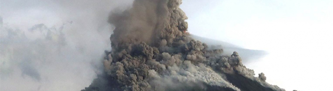February 1 ,  2018.  EN.  Mayon , Lopevi , Sinabung , Fuego .