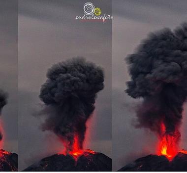 May 08 , 2017. EN.  Planchon Peteroa , Nevado Del Ruiz , Sinabung , Santiaguito .