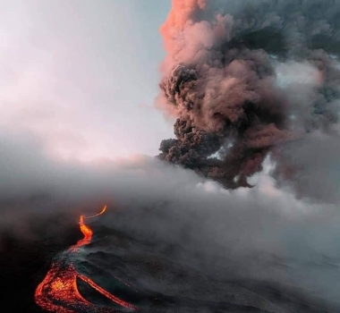 May 13, 2021. EN . Alaska : Great Sitkin , Iceland : Geldingadalur , Guatemala : Pacaya , Japan : Sakurajima , Indonesia : Semeru .