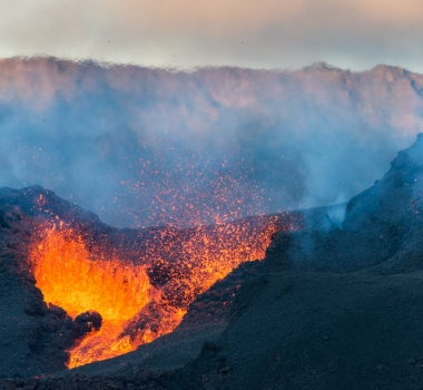 July 23 , 2017. EN .  Piton de la Fournaise , Kilauea , Great Sitkin , Fuego .
