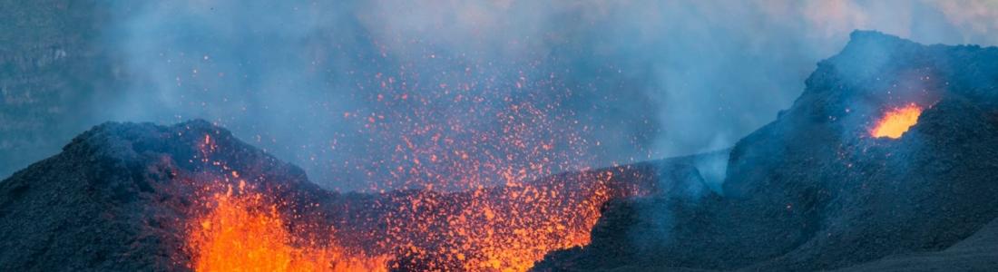 July 23 , 2017. EN .  Piton de la Fournaise , Kilauea , Great Sitkin , Fuego .