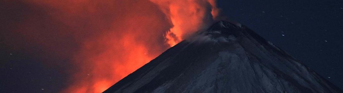 11/10/2016. FR. Etna ,  Nevado Del Ruiz , Klyuchevskoy , Villarica .