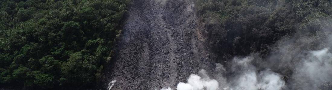 February 14 , 2019.  EN.  Indonesia : Karangetang , Colombia : Nevado del Ruiz , La Réunion : Piton de la Fournaise , Indonesia : Anak Krakatau , Vanuatu : Ambrym .