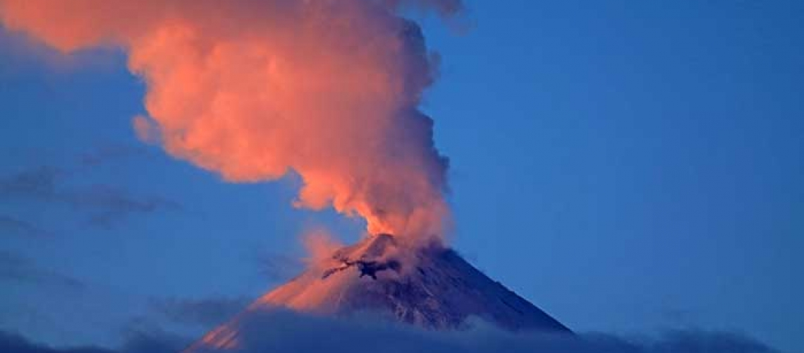 March 30, 2020. EN. Kamchatka : Klyuchevskoy , Indonesia : Anak Krakatau , Philippines : Taal , Guatemala : Santiaguito .