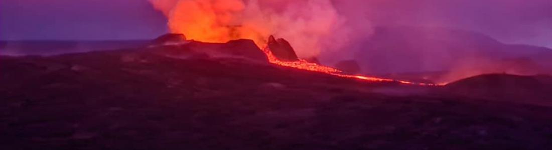 18 Juillet 2021 . FR . Indonésie : Ili Lewotolok , Hawaii : Kilauea , Equateur : Reventador , Guatemala : Santiaguito , Islande : Geldingadalur /  Fagradalsfjall .