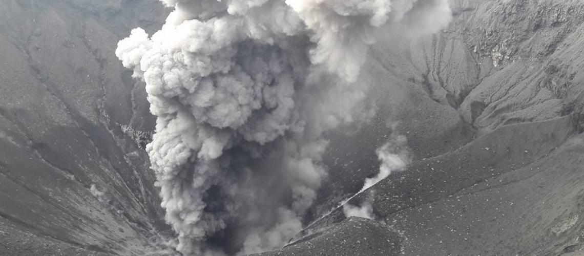 December 29 , 2017. EN.  Dukono , Sinabung , Nevado Del Huilà , Santiaguito .