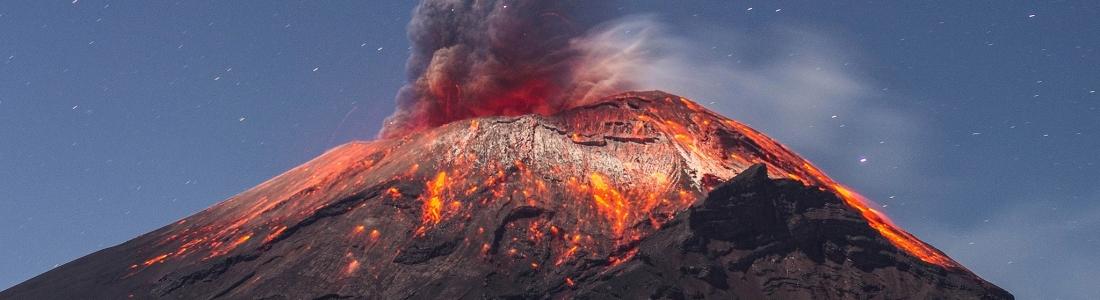 16/10/2017. FR. Villarica , Fuego , Popocatepetl , Agung .