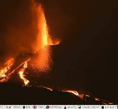 October 11, 2021. EN. Spain / La Palma : Cumbre Vieja , Hawaii : Kilauea , Indonesia : Semeru , La Martinique : Montagne Pelée , Iceland : Reykjanes Peninsula .