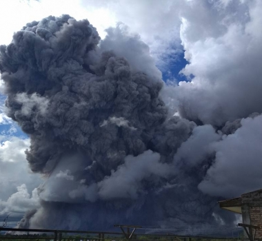 December 28 , 2017. EN.  Sinabung , Nevados de Chillan , Nevado del Ruiz , Popocatepetl .