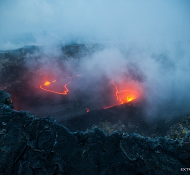 December 31 , 2017. EN. Kilauea , Lewotolo , Descabezado Grande , Klyuchevskoy .