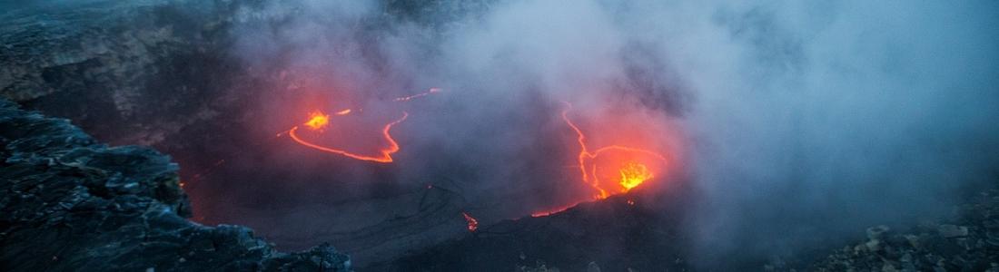31 Décembre 2017. FR. Kilauea , Lewotolo , Descabezado Grande , Klyuchevskoy .