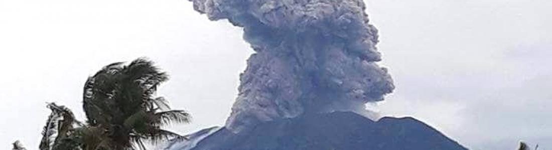 12 Janvier 2018 . FR . Agung , Kadovar , Tenorio , Aira ( Sakurajima) .