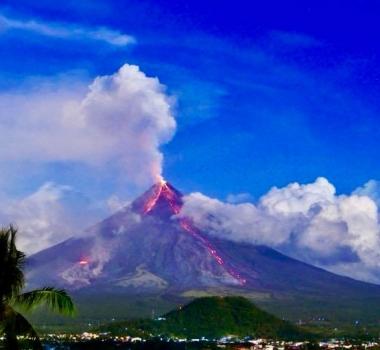 February 08 , 2018. EN.  Mayon , Planchon Peteroa , Turrialba , Kadovar , Shishaldin .