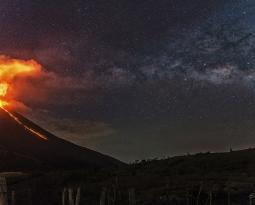 February 22 ,  2018. EN.  Mayon , San Miguel ( Chaparrastique ) , Pacaya , Turrialba , Irazu , Poas , Rincon de la Vieja .