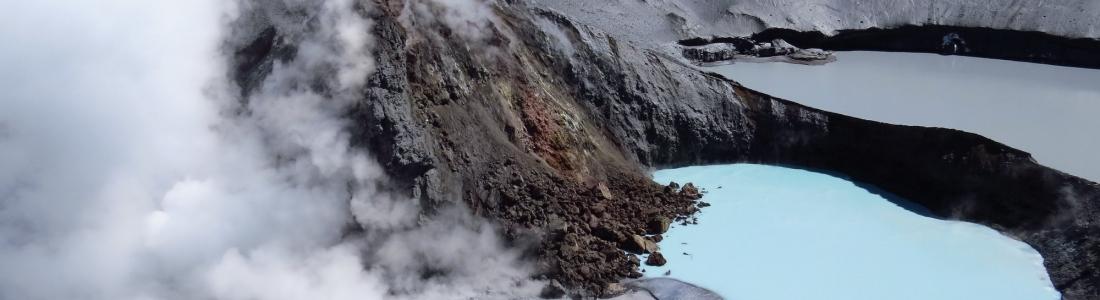 February 23 , 2019.  EN. La Réunion : Piton de la Fournaise , Indonesia : Agung , Chile : Copahue , Costa Rica : Turrialba / Poas / Rincon de la Vieja .