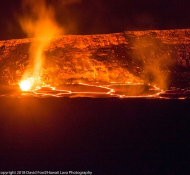 April 25 , 2018 . EN.  Stromboli , Kilauea , Karymsky , Cumbal .