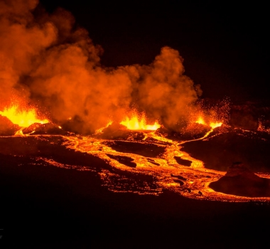 April 29 , 2018. EN.  Piton de la Fournaise , Kilauea , Karymsky , Pacaya , Yellowstone .
