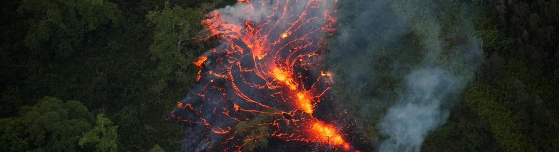 14 Mai 2018. FR.  Pu'u 'Ō'ō / Kilauea , Piton de la Fournaise , Karymsky , Pacaya , San Miguel ( Chaparrastique ).