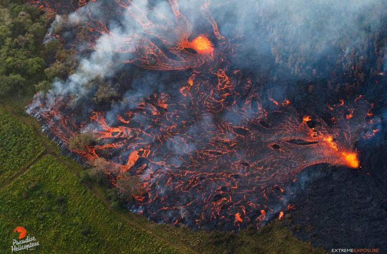 May 19 ,  2018. EN.  Pu'u 'Ō'ō / Kilauea , Bárðarbunga , Fuego , Piton de la Fournaise , Sinabung .