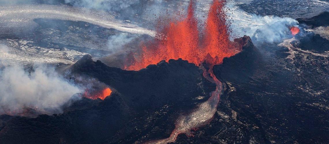 22 Mai 2018. FR. Pu'u 'Ō'ō / Kilauea , Mérapi , Sabancaya , Piton de la Fournaise .