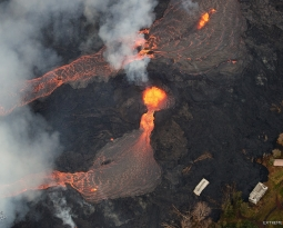 May 26 , 2018. EN.   Pu'u 'Ō'ō / Kilauea , Fuego , Merapi , Piton de la Fournaise , Cleveland .