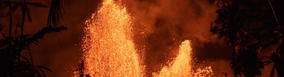 02 Juin 2018 . FR. Pu'u 'Ō'ō / Kilauea , Mérapi , Piton de la Fournaise , Fuego .