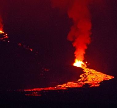 July 03 , 2018. EN . Ecuador / Galapagos : Sierra Negra , Ecuador : Reventador , La Reunion : Piton de la Fournaise , France : Chaine des Puys , Indonesia : Agung .