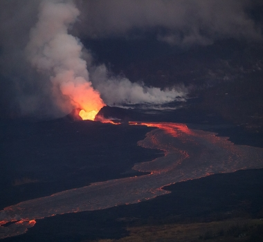 June 27 , 2018. EN. Ecuador / Galapagos : Sierra Negra , Alaska : Cleveland , Colombie : Galeras , Hawai : Kilauea .