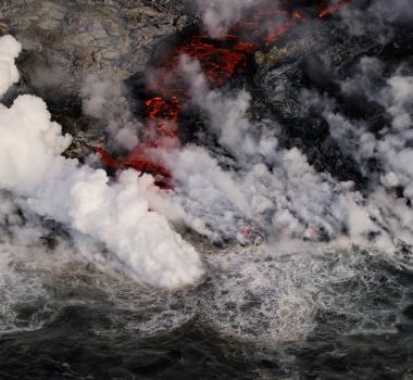 June 30 , 2018. EN. Indonesia : Agung , Hawai : Kilauea , Ecuador / Galapagos : Sierra Negra , Kamchatka : Klyuchevskoy .