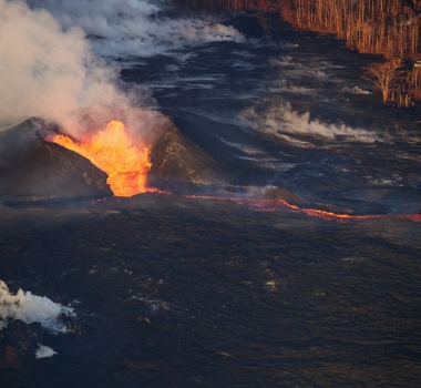 July 05 , 2018. EN. Indonesia : Agung , Hawai : Kilauea , New Zealand : White Island , Vanuatu : Yasur .
