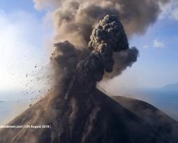 August 18 , 2018. EN.  Indonesia : Anak Krakatau , Nicaragua : Telica , Hawai : Kilauea , Ecuador / Galapagos : Sierra Negra .