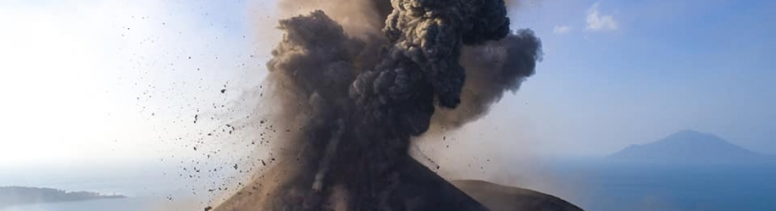 18 Aout 2018. FR. Indonésie : Anak Krakatau , Nicaragua : Telica , Hawai : Kilauea , Equateur / Galapagos : Sierra Negra .