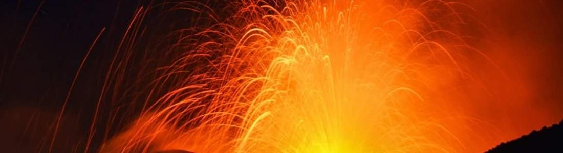 24 Aout 2018. Fr. Italie / Sicile : Etna , Colombie : Nevado del Ruiz , Guatemala : Fuego , Indonésie : Anak Krakatau .